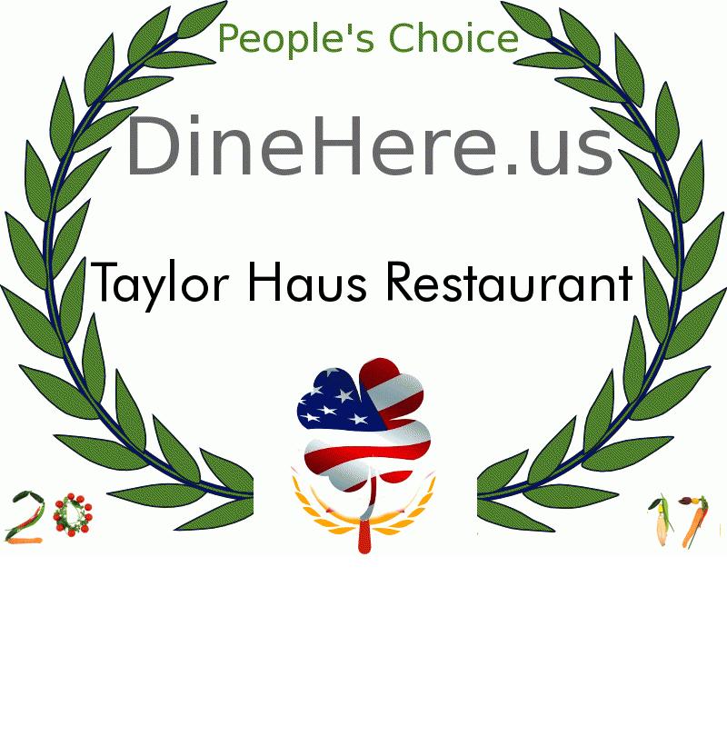 Taylor Haus Restaurant DineHere.us 2017 Award Winner